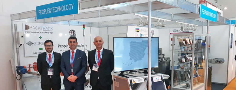 People&Technology booth at FESPA 2019 edition